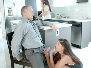 Pretty stepdaughter Katya Rodriguez gets banged by her stepdaddy