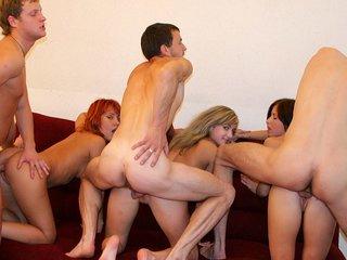 Sassy redhead performs hot student blow job