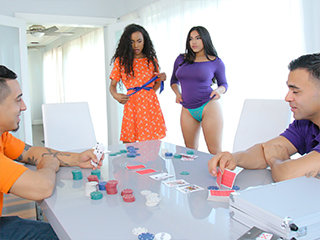 Disrobe Poker And Stroke Her