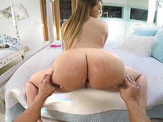 Lovely fat ass chick Klara Gold gets fucked for some extra cash