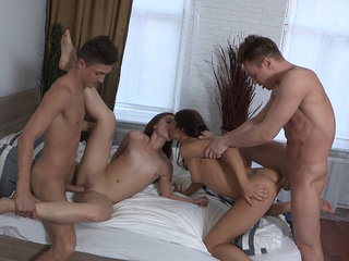 Teens having a home fucking party